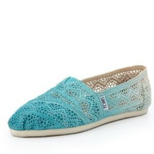TOMS Ombre Crochet Slip-on Turquoise